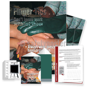 Safety Meeting Kit - Finger Tips Dont Leave Work Without Them Kits