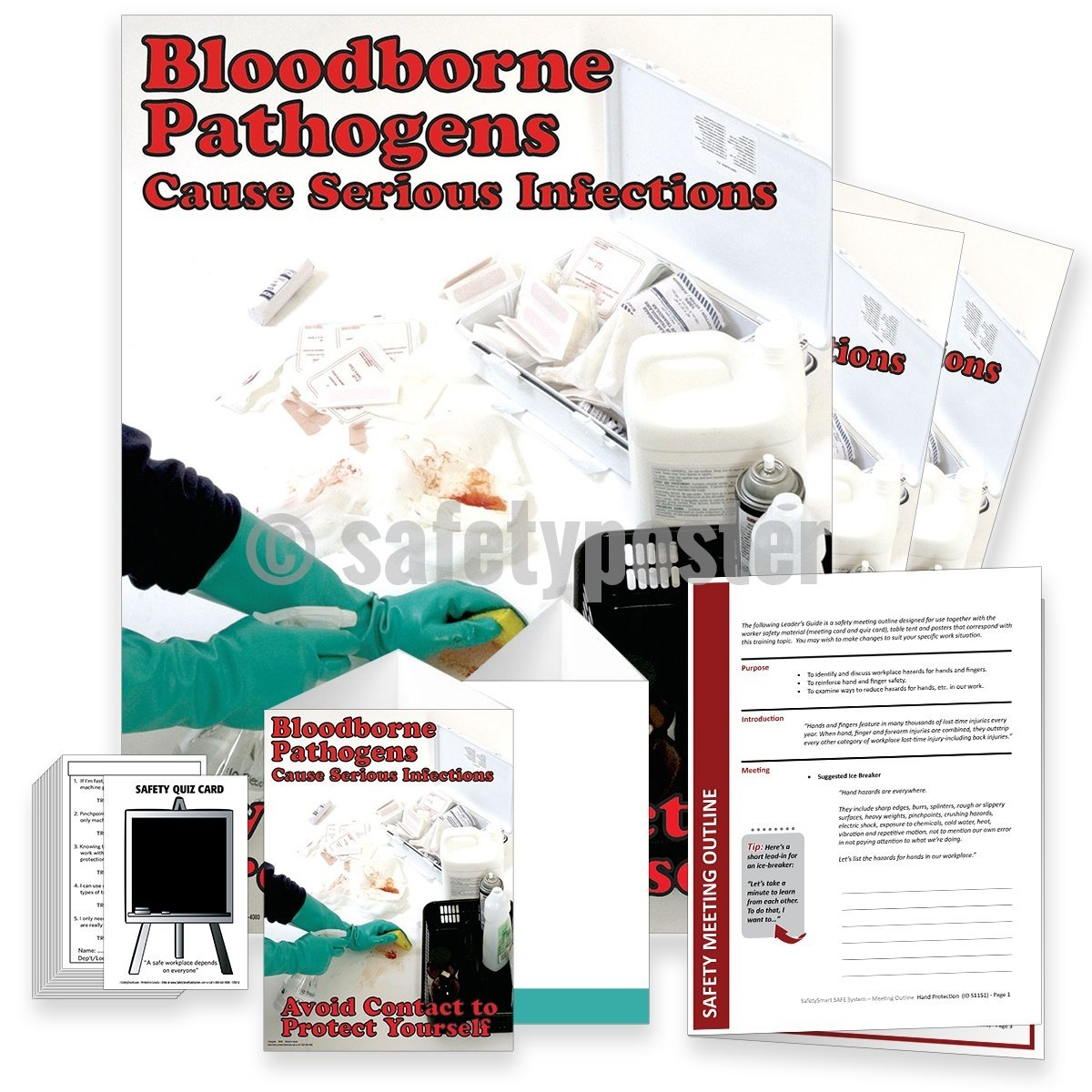 Safety Meeting Kit - Bloodborne Pathogens Cause Serious Infections Kits