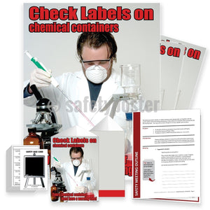 Safety Meeting Kit - Check Labels On Chemical Containers Kits