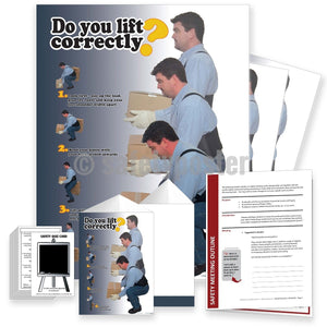 Safety Meeting Kit - Do You Lift Correctly 4 Steps Kits