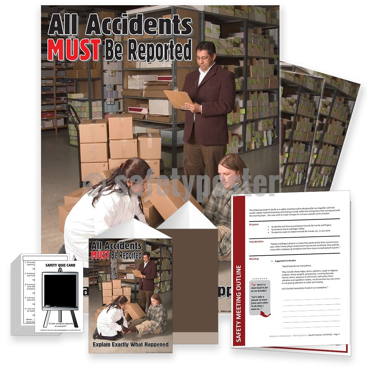Safety Meeting Kit - All Accidents Must Be Reported Kits