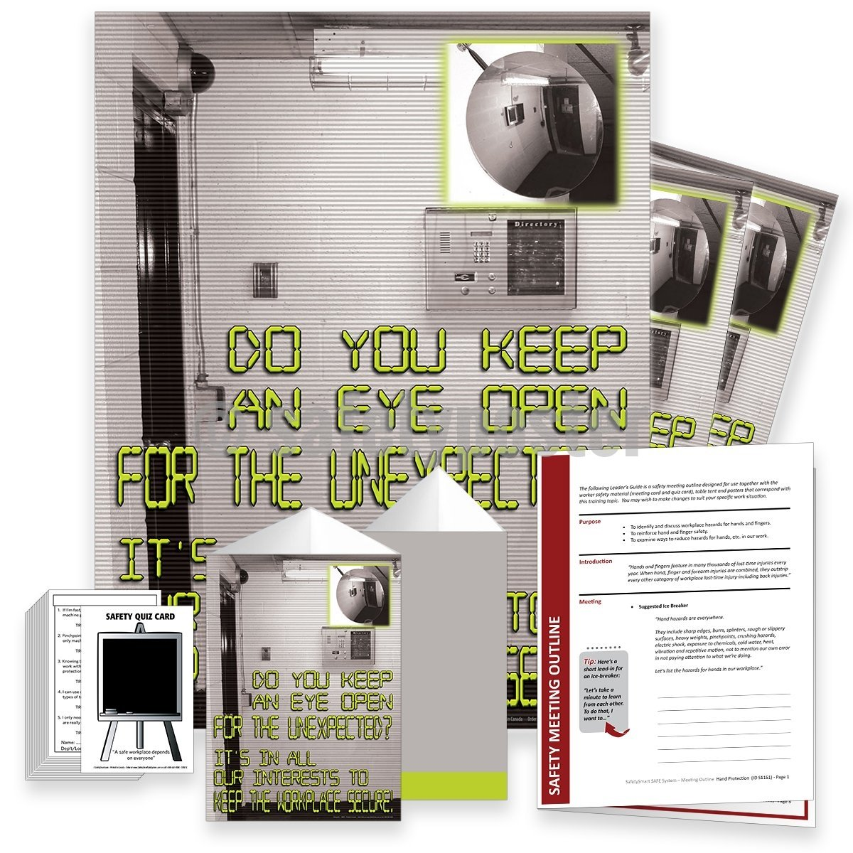 Safety Meeting Kit - Keep An Eye Open For The Unexpected Kits