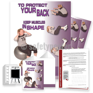 Safety Meeting Kit - Protect Your Back Keep Muscles In Shape Kits