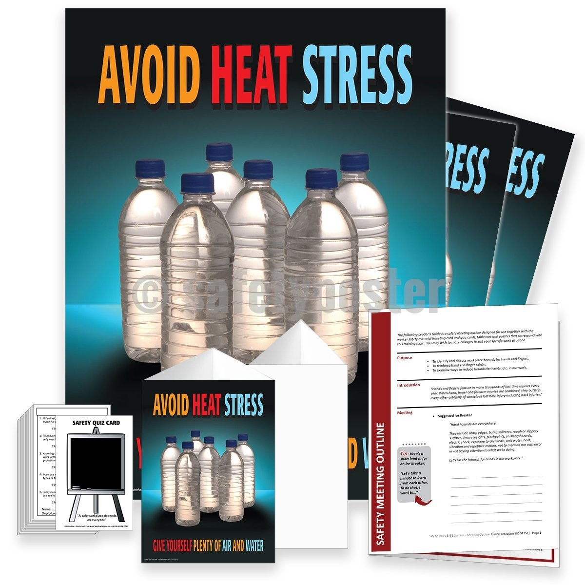 Safety Meeting Kit - Avoid Heat Stress Bottles Kits