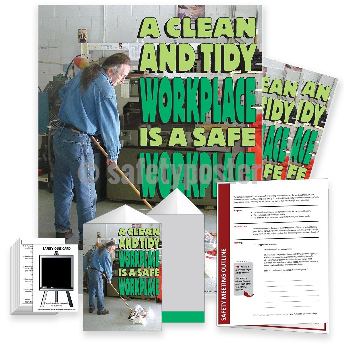 Safety Meeting Kit - A Clean And Tidy Workplace Is A Safe Workplace