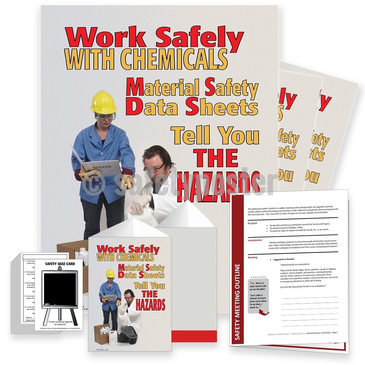 Safety Meeting Kit - Work Safely With Chemicals MSDS