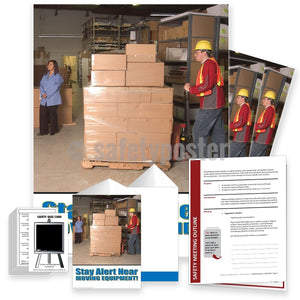Safety Meeting Kit - Stay Alert Near Moving Equipment - Pallet Truck