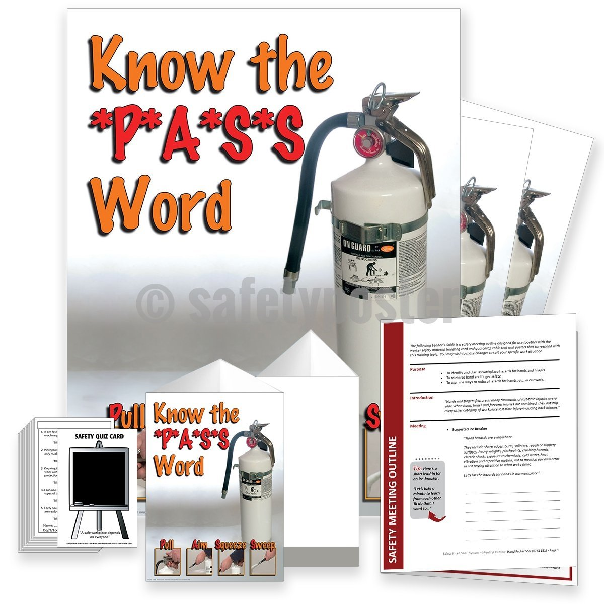Safety Meeting Kit - Know The Pass Word Kits