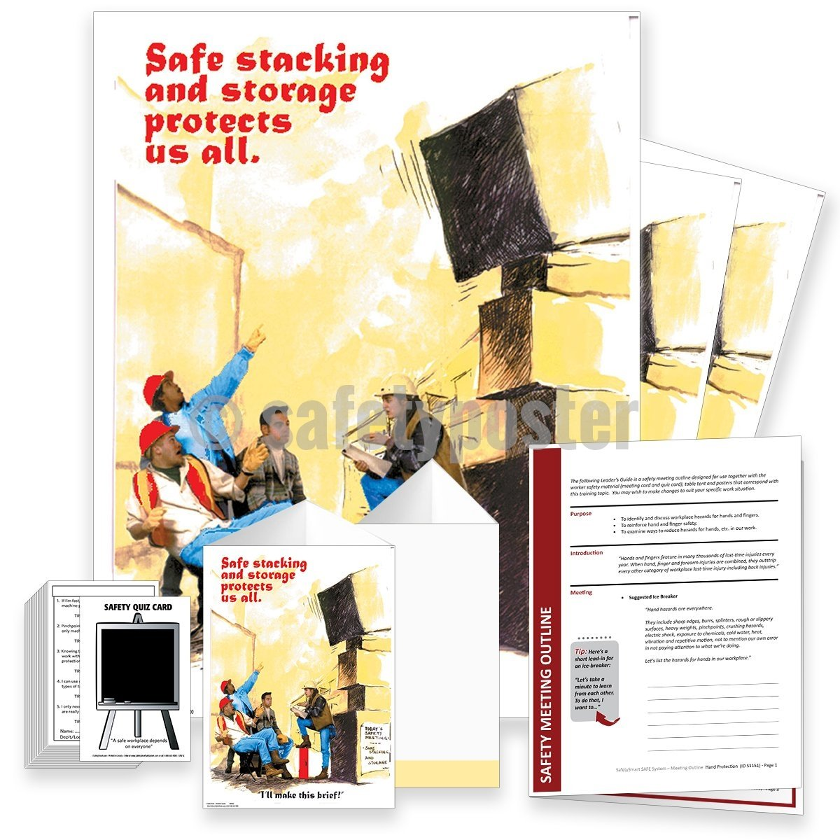 Safety Meeting Kit - Safe Stacking And Storage Protects Us All Kits