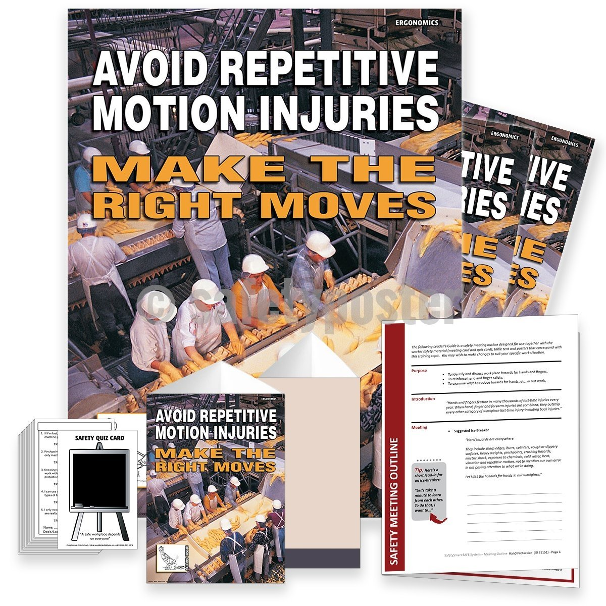 Safety Meeting Kit - Avoid Repetitive Motion Injuries Kits