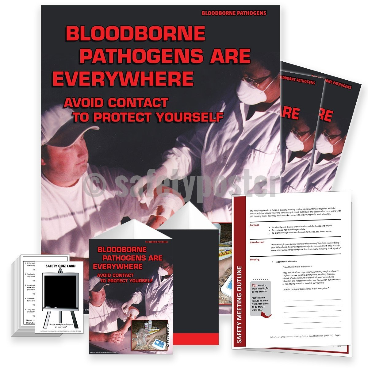 Safety Meeting Kit - Bloodborne Pathogens Are Everywhere Kits