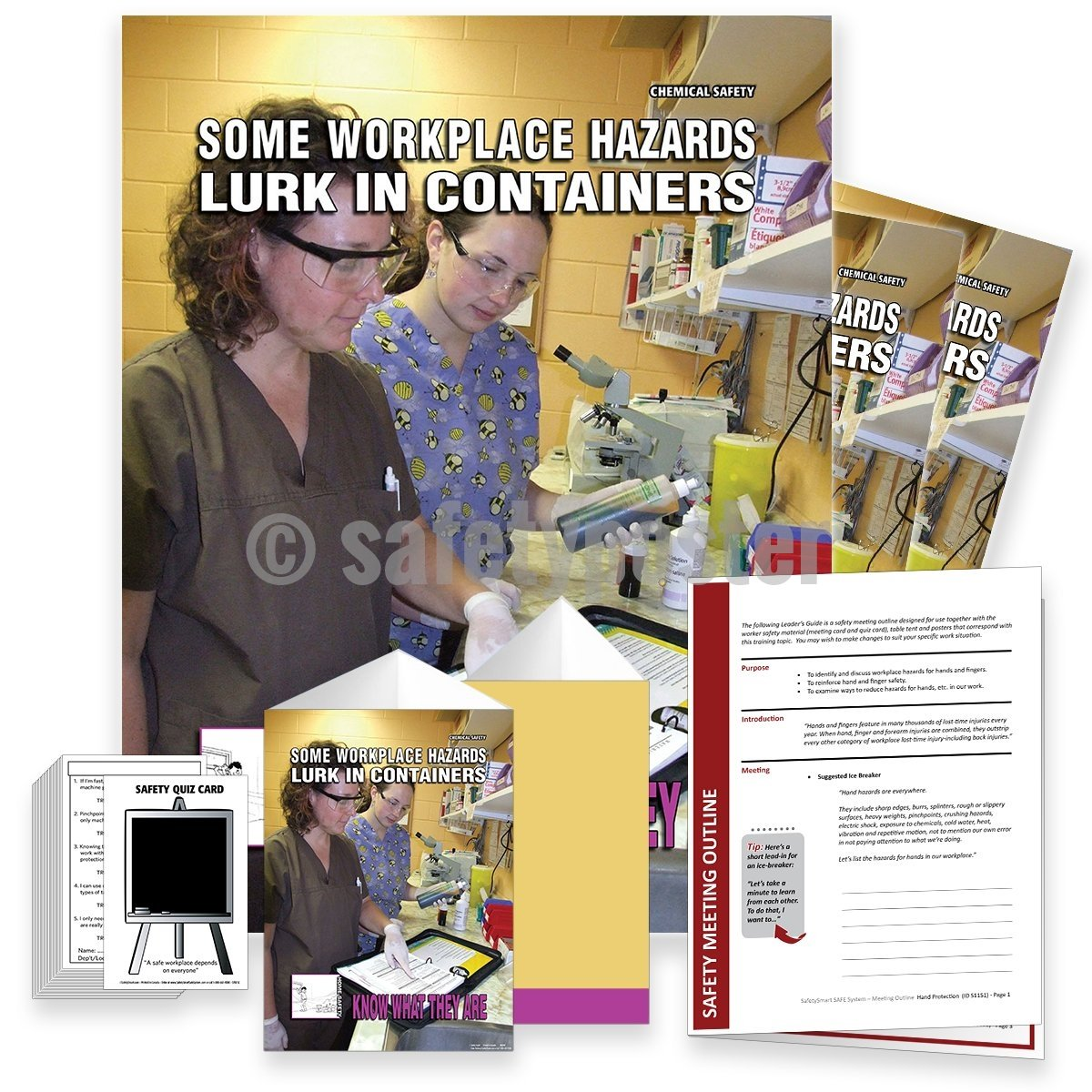Safety Meeting Kit - Some Workplace Hazards Lurk In Containers Kits