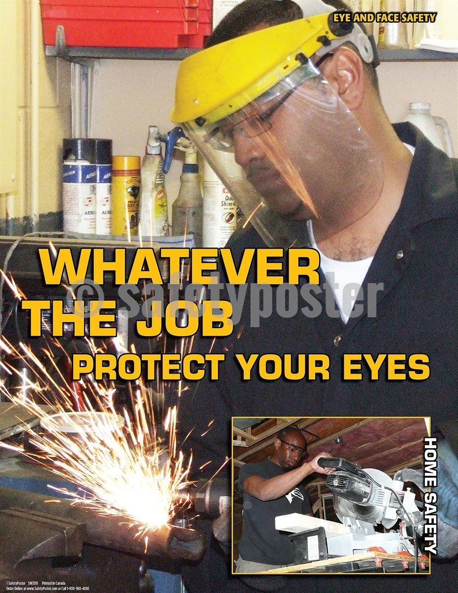 Safety Poster - Whatever The Job Protect Your Eyes - safetyposter.com