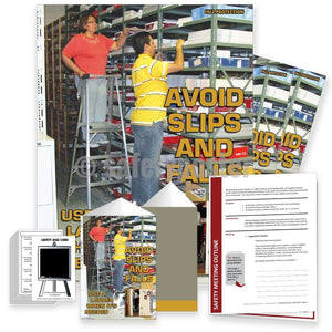 Safety Meeting Kit - Avoid Slips Trips And Falls Use A Ladder Kits