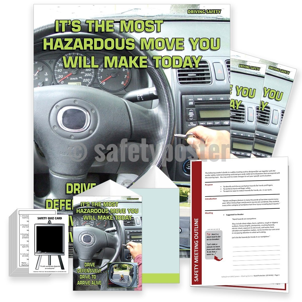 Safety Meeting Kit - Drive Defensively To Arrive Alive