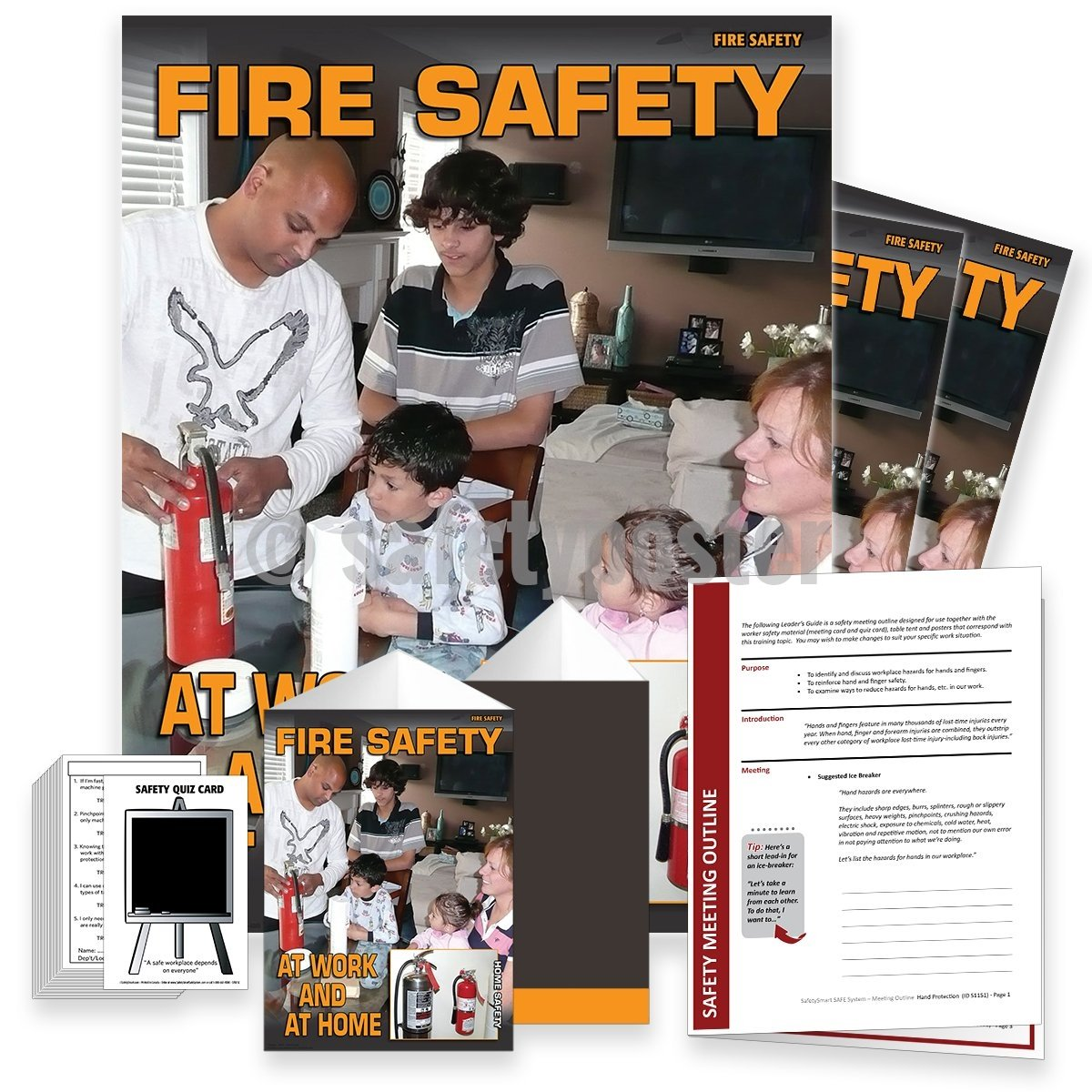 Safety Meeting Kit - Fire At Work And Home Kits