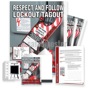 Safety Meeting Kit - Respect And Follow Lockout Tagout Kits