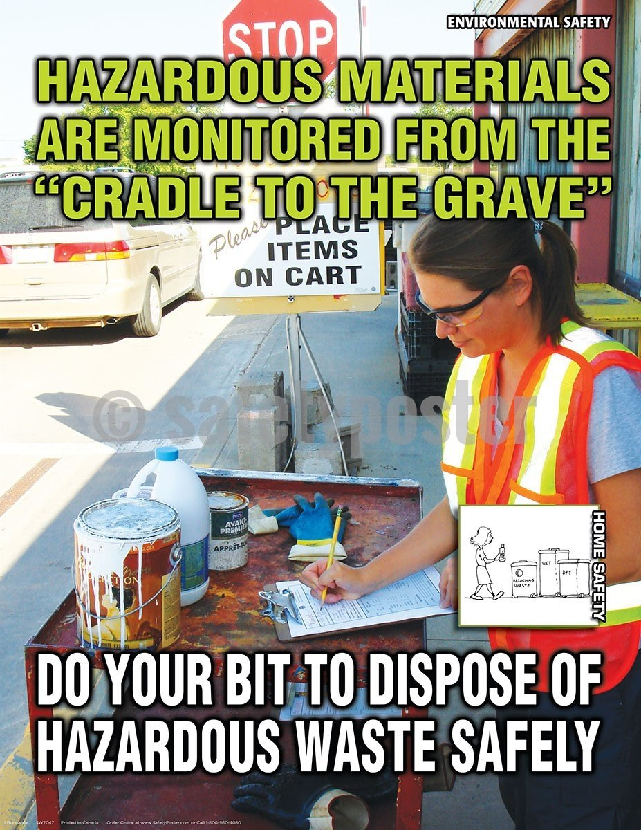 Hazardous Materials Are Monitored - Safety Poster Chemical