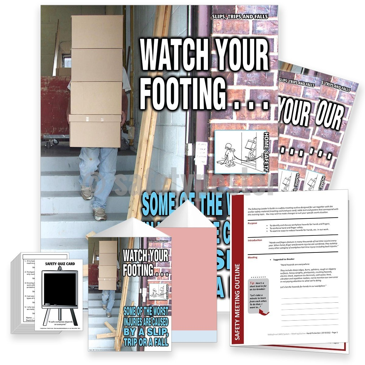 Safety Meeting Kit - Watch Your Footing Kits