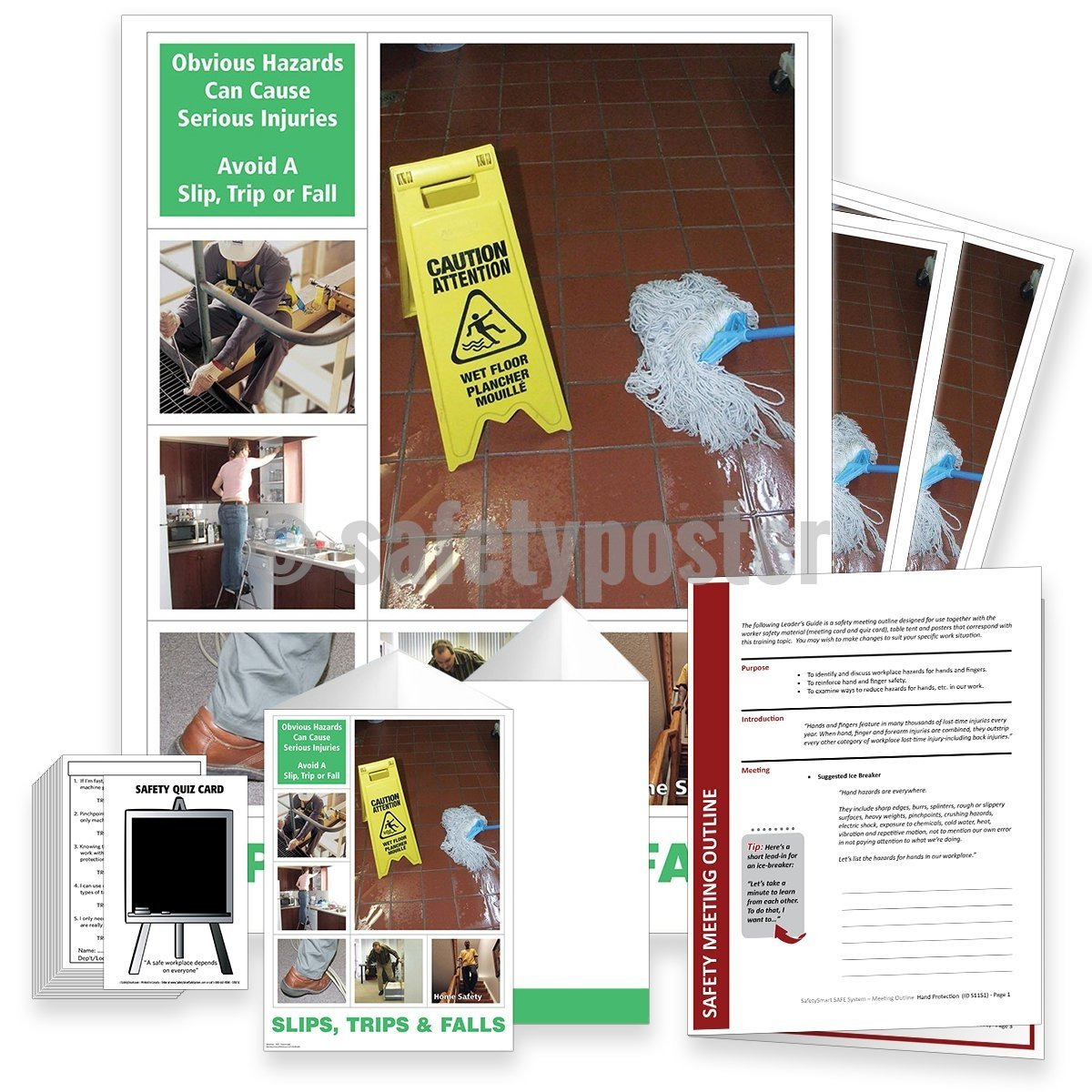 Safety Meeting Kit - Obvious Hazards Can Cause Serious Injury Kits