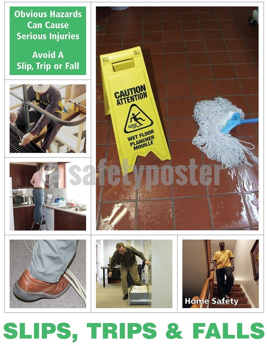 Obvious Hazards Can Cause Serious Injuries - Safety Poster