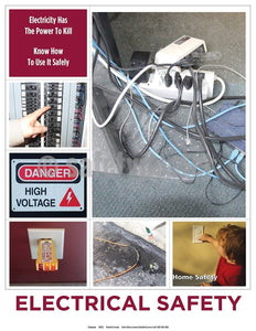 Safety Poster - Electricity Has The Power To Kill Know How To Use It Safely - safetyposter.com
