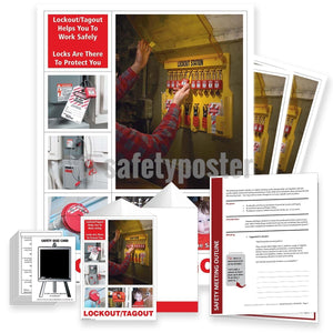 Safety Meeting Kit - Lockout Tagout Helps You To Work Safely Kits