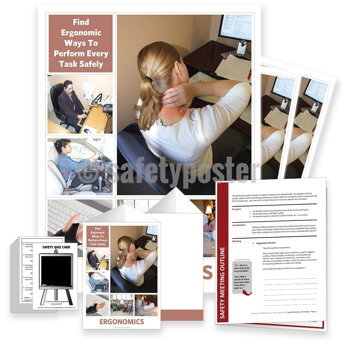 Safety Meeting Kit - Find Ergonomic Ways To Perform Tasks Safely Kits