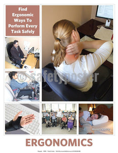 Safety Poster - Find Ergonomic Ways To Perform Every Task Safely - safetyposter.com