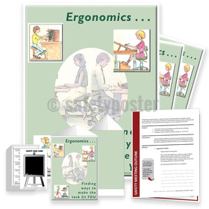 Safety Meeting Kit - Ergonomics Finding Ways To Make The Task Fit You Kits