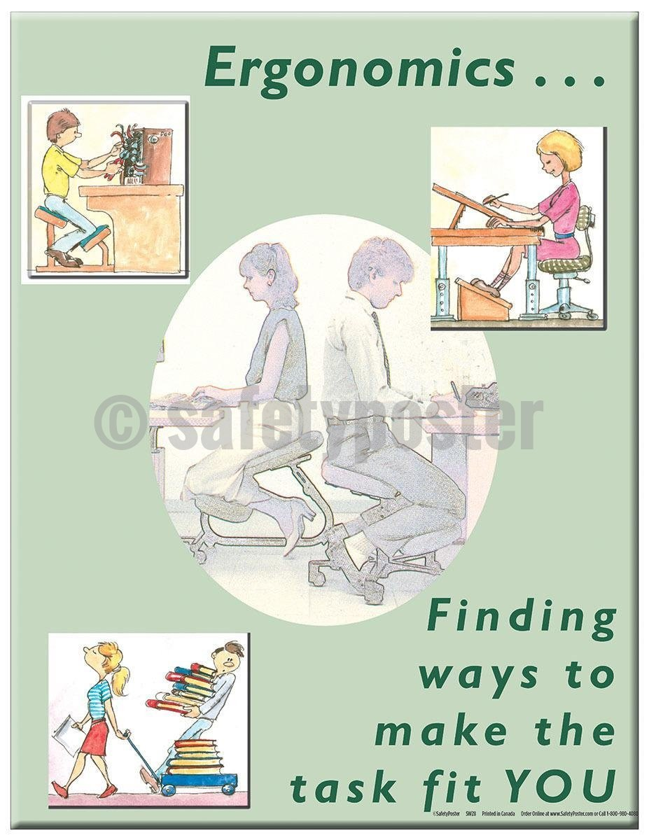Safety Poster - Finding Ways To Make The Task Fit You - safetyposter.com
