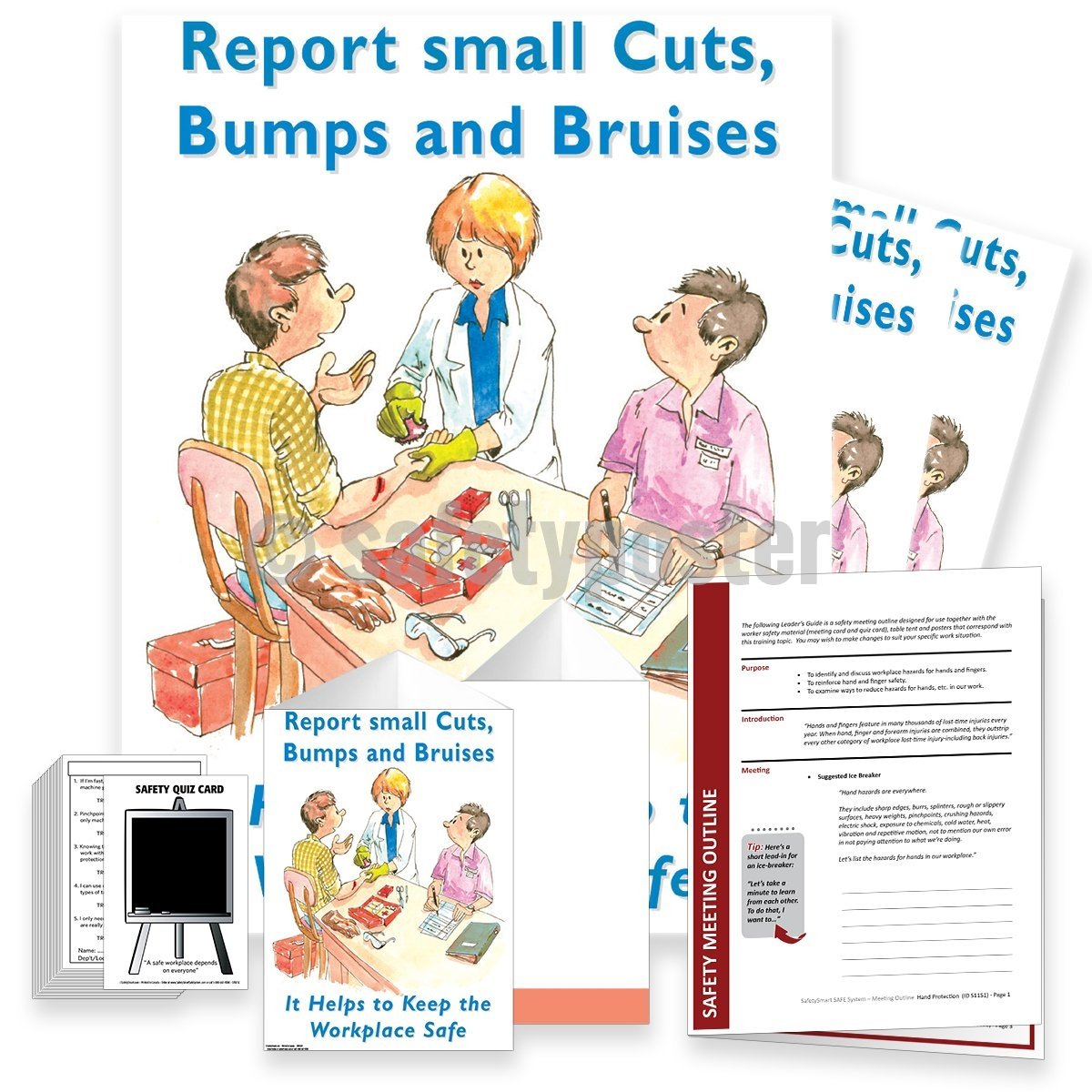 Safety Meeting Kit - Report Small Cuts Bumps And Bruises Kits