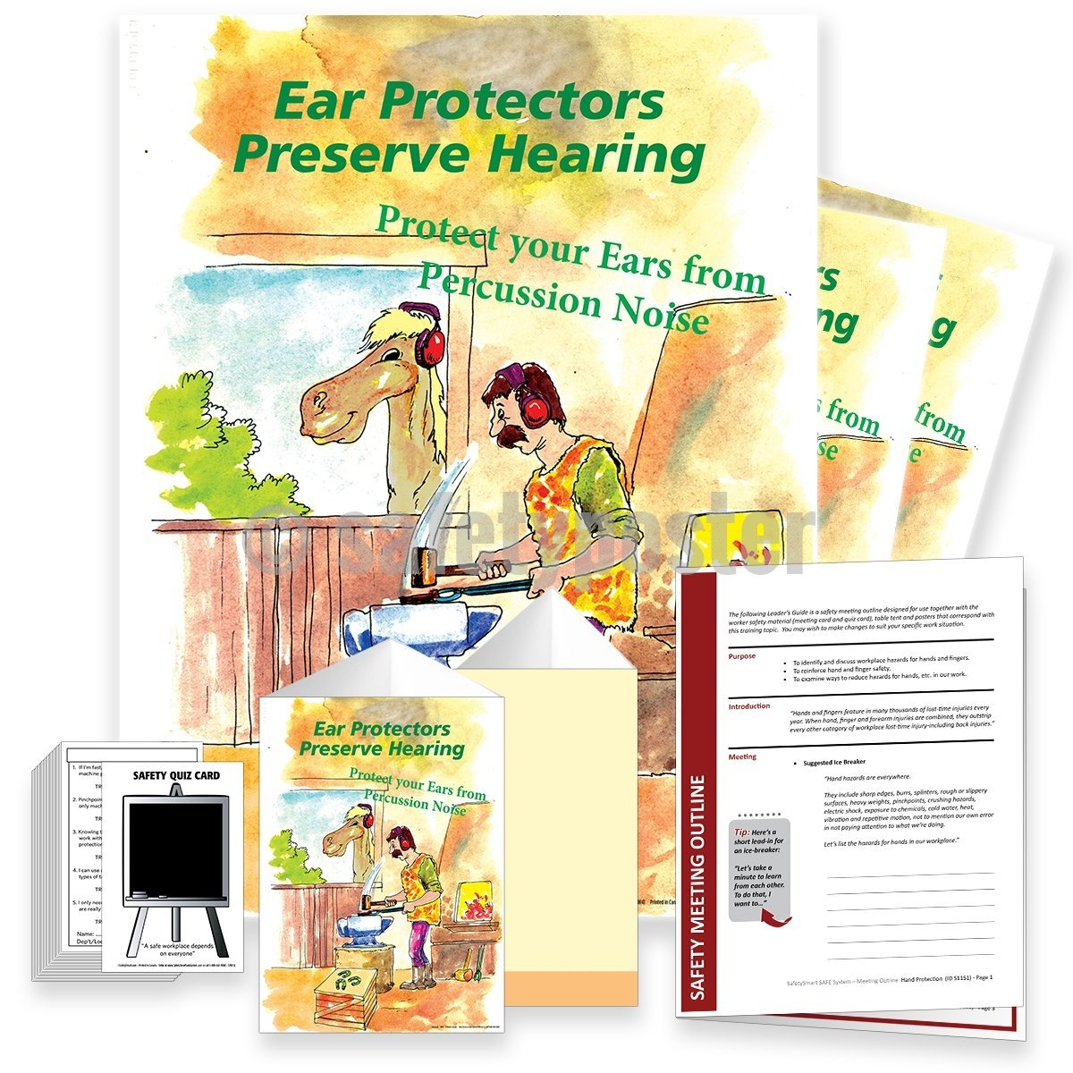 Safety Meeting Kit - Ear Protectors Preserve Hearing
