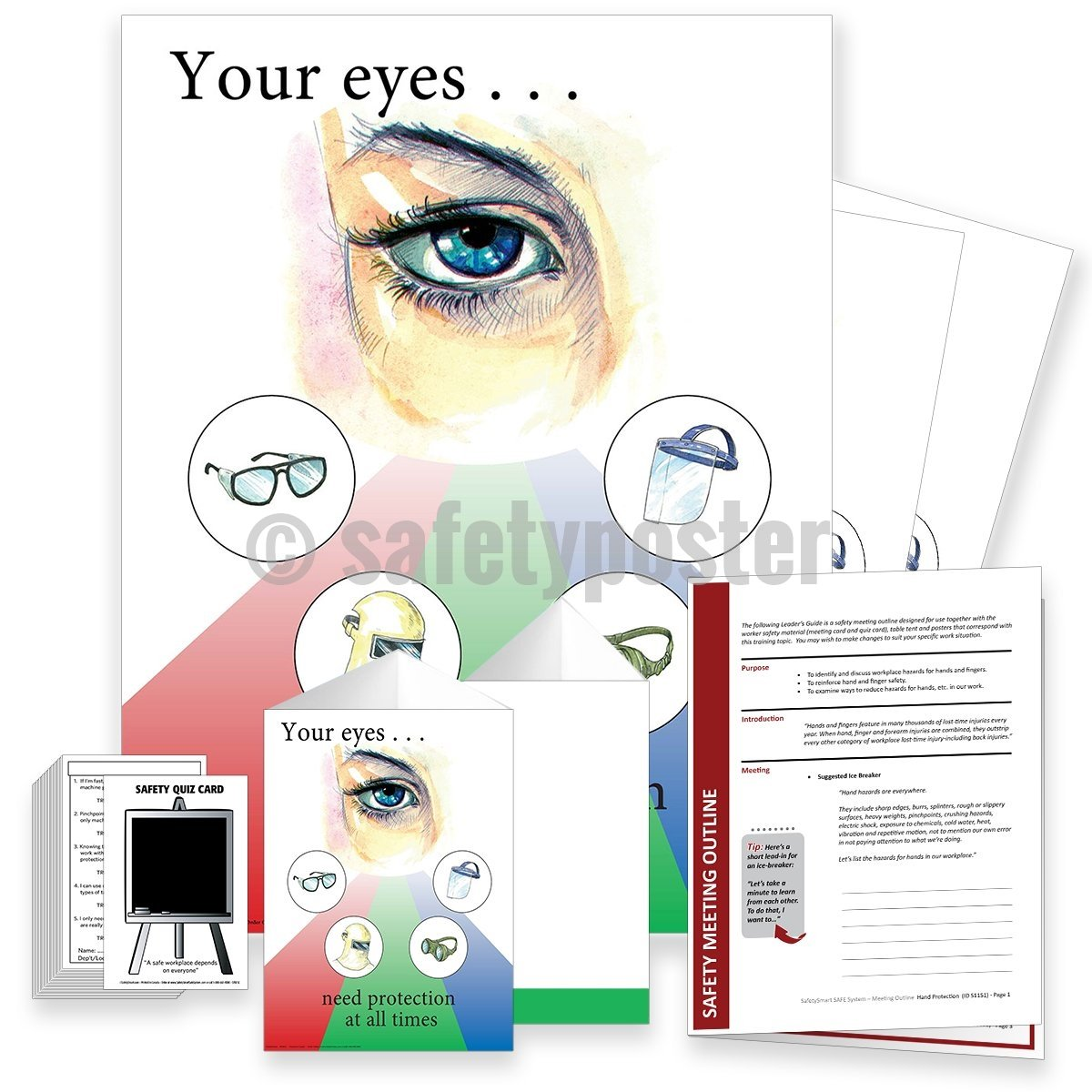 Safety Meeting Kit - Your Eyes Need Protection At All Times