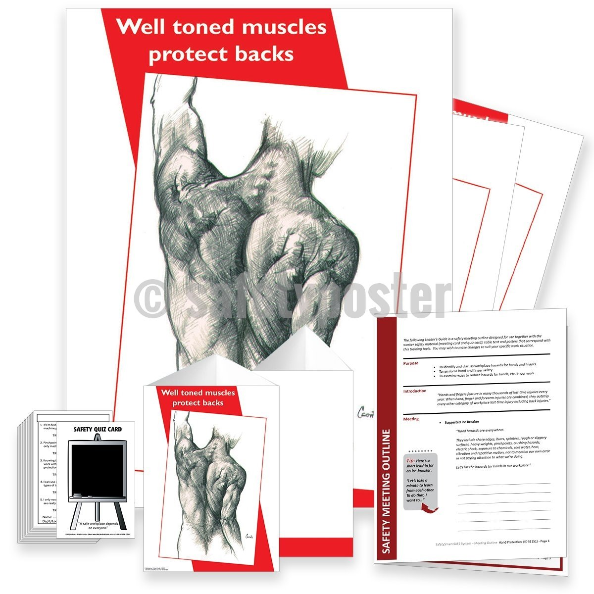 Safety Meeting Kit - Well Toned Muscles Protect Backs Kits