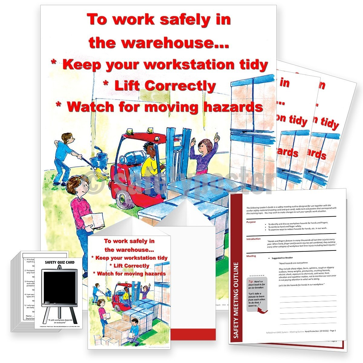 Safety Meeting Kit - Work Safely In The Warehouse