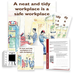 Safety Meeting Kit - A Neat And Tidy Workplace Is Safe Kits