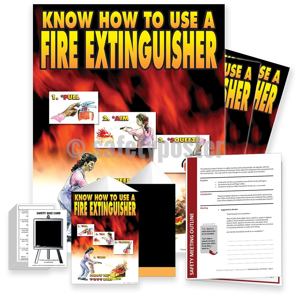 Safety Meeting Kit - Know How To Use A Fire Extinguisher Kits