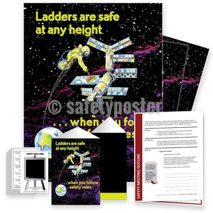 Safety Meeting Kit - Ladders Are Safe At Any Height Space Kits