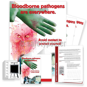 Safety Meeting Kit - Bloodborne Pathogens Avoid Contact Kits