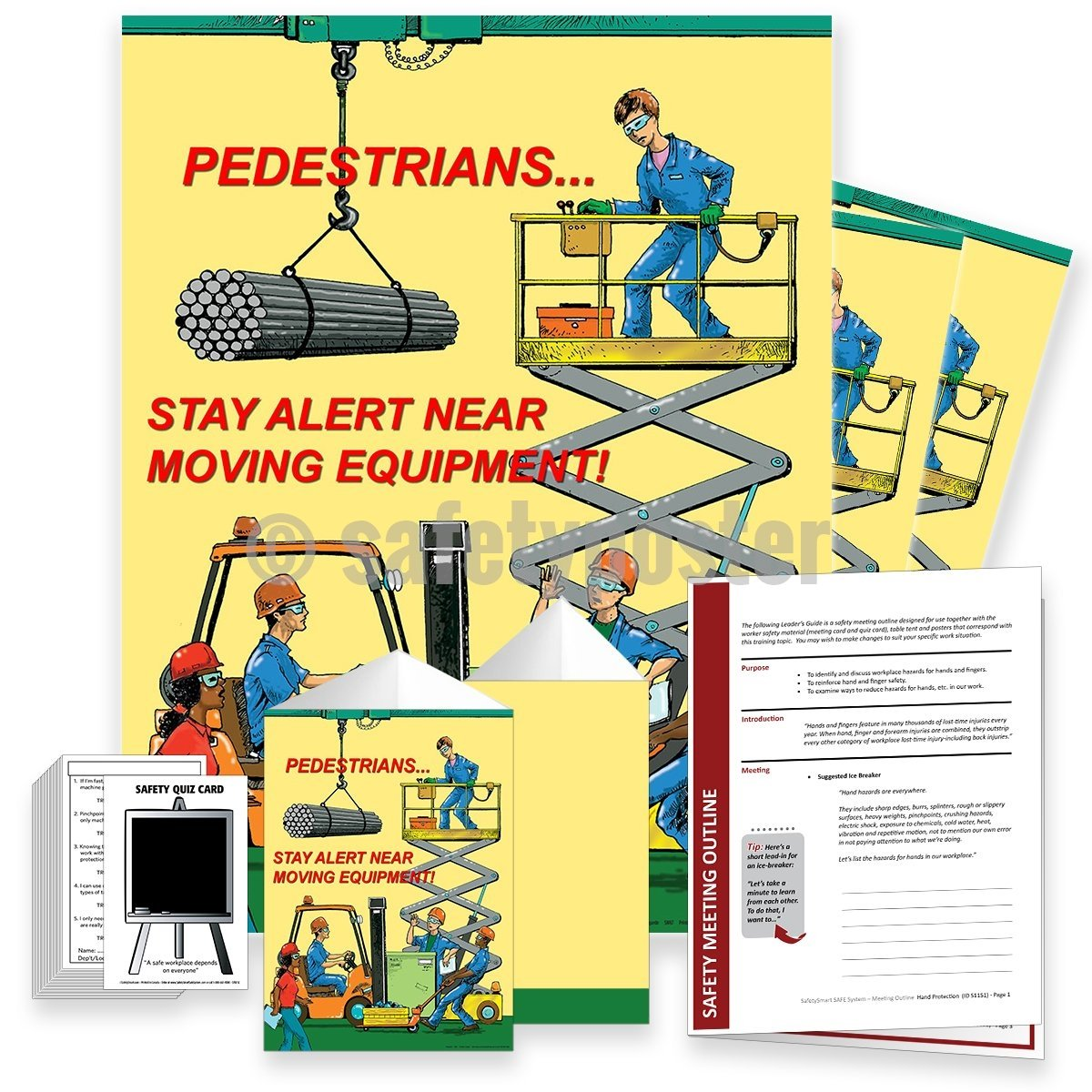 Safety Meeting Kit - Pedestrians Stay Alert Near Morving Equipment Kits