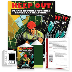 Safety Meeting Kit - Permit Required Confined Spaces Can Be Lethal Kits