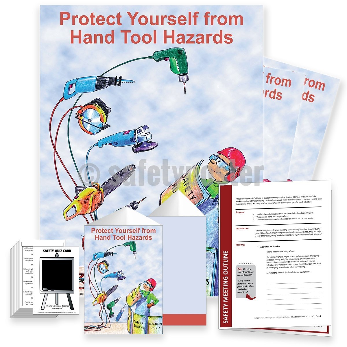 Safety Meeting Kit - Protect Yourself From Hand Tool Hazards Kits