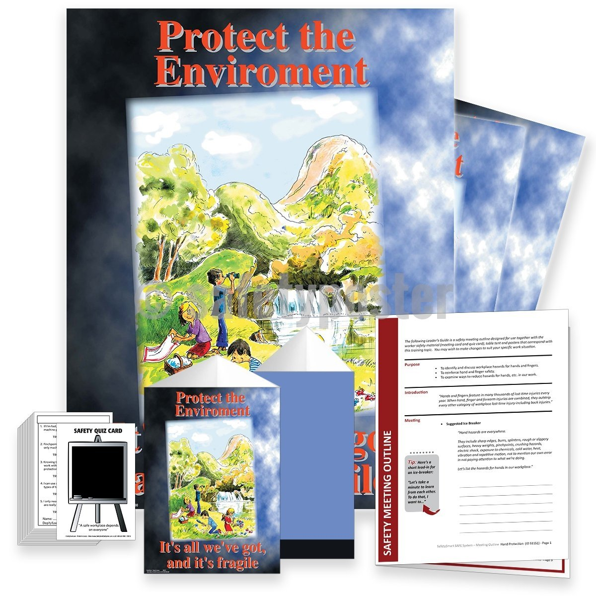 Safety Meeting Kit - Protect The Environment Fragile