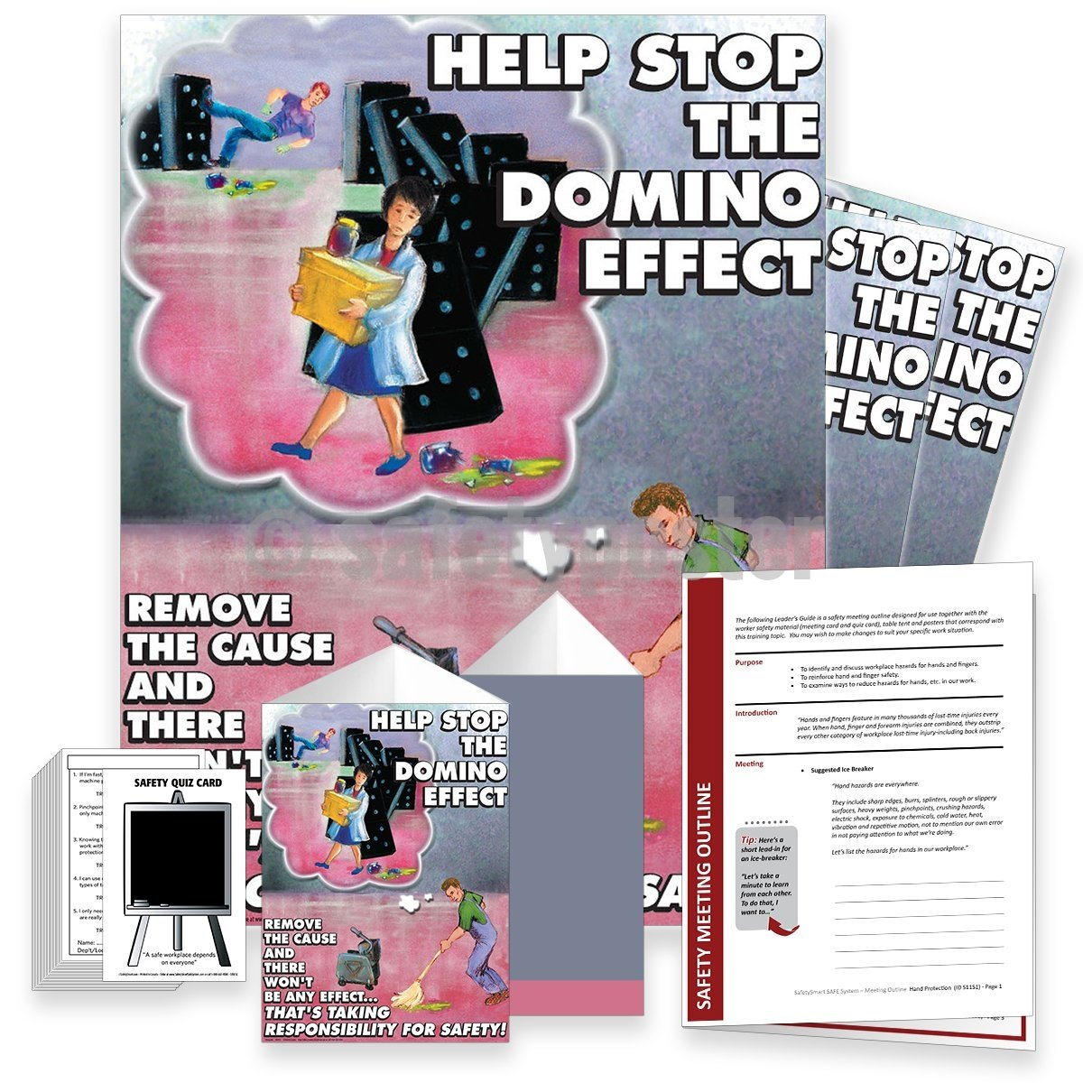 Safety Meeting Kit - Help Stop The Domino Effect Kits