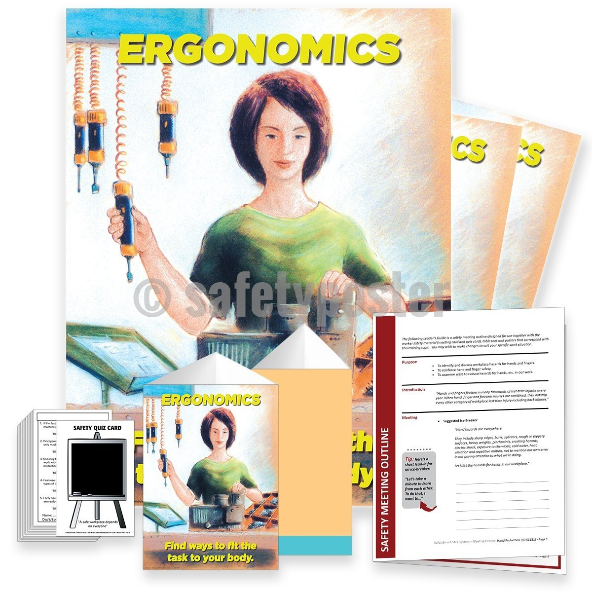 Safety Meeting Kit - Ergonomics Find Ways To Fit The Task Your Body Kits