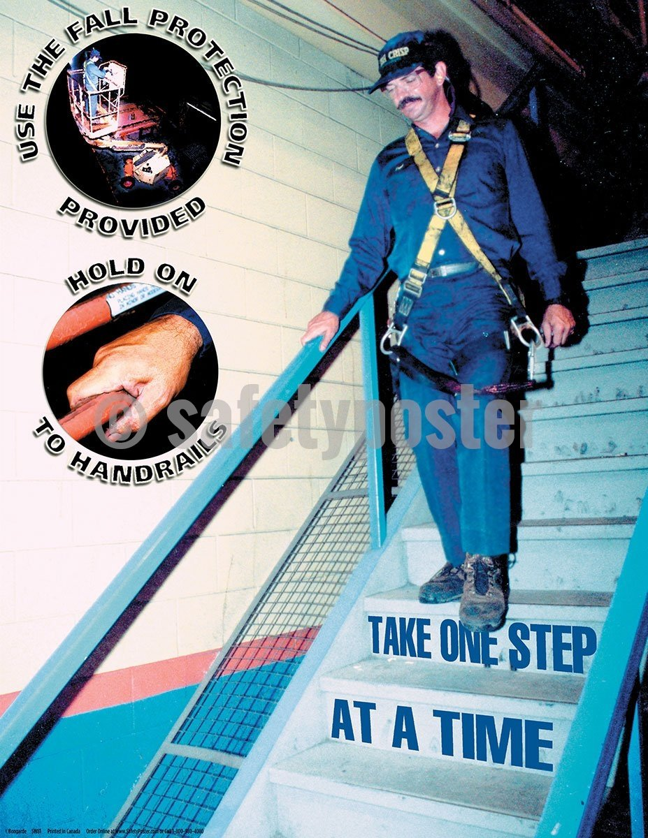 Take One Step At A Time - Safety Poster General