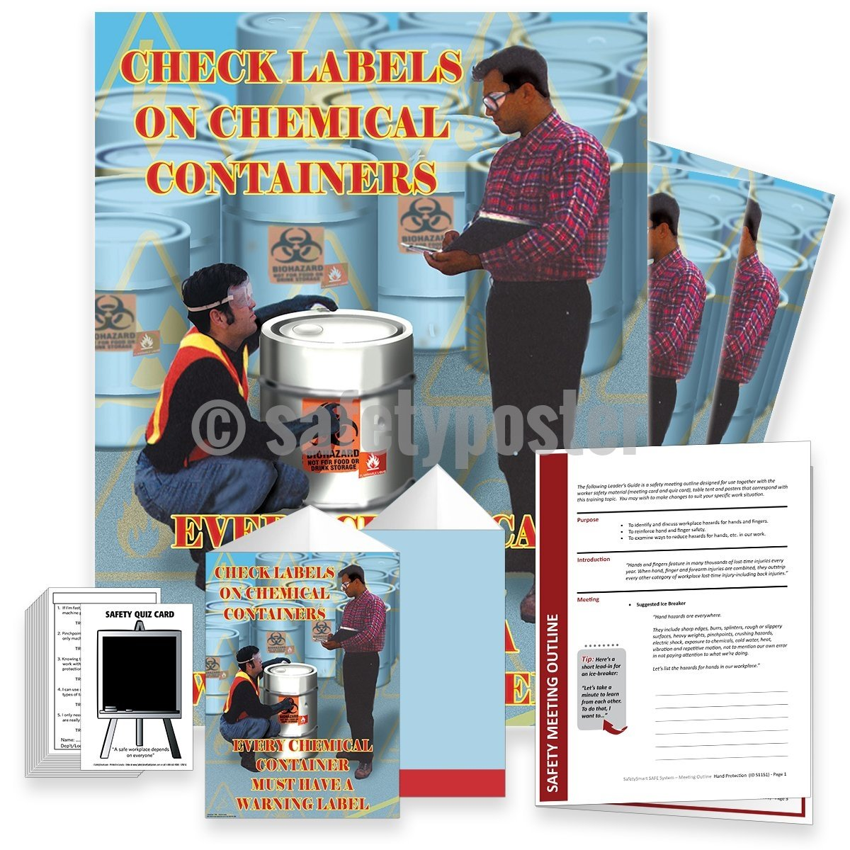 Safety Meeting Kit - Every Chemical Container Must Have A Warning Label Kits