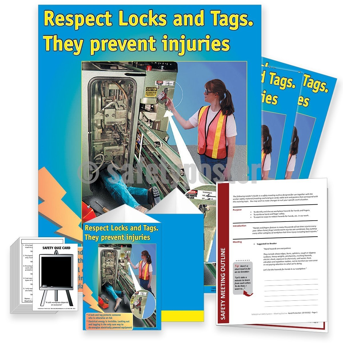 Safety Meeting Kit - Respect Locks And Tags They Prevent Injury Kits