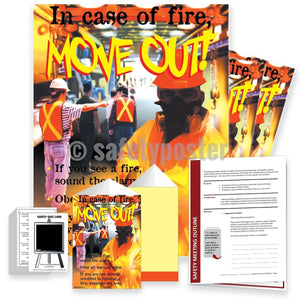 Safety Meeting Kit - In Case Of Fire Move Out Sound The Alarm Kits